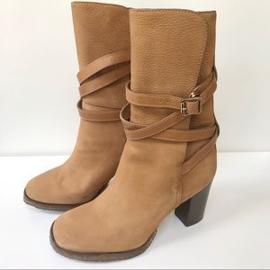 TORY BURCH JAMIE Leather Boot-Brown-SN32128359-8.5